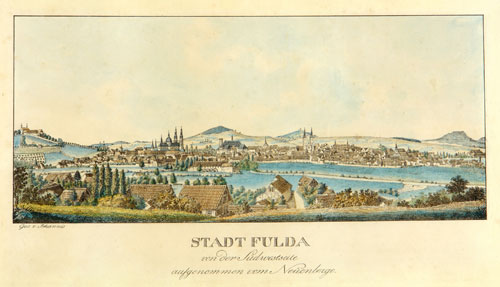 Fulda at the time of 1822