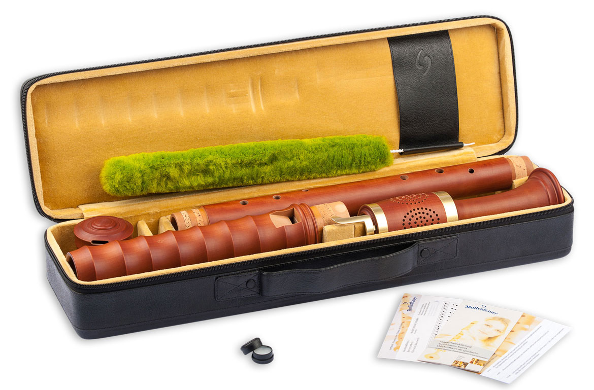 Bass recorder Mollenhauer 4508 Kynseker baroque in pearwood stained