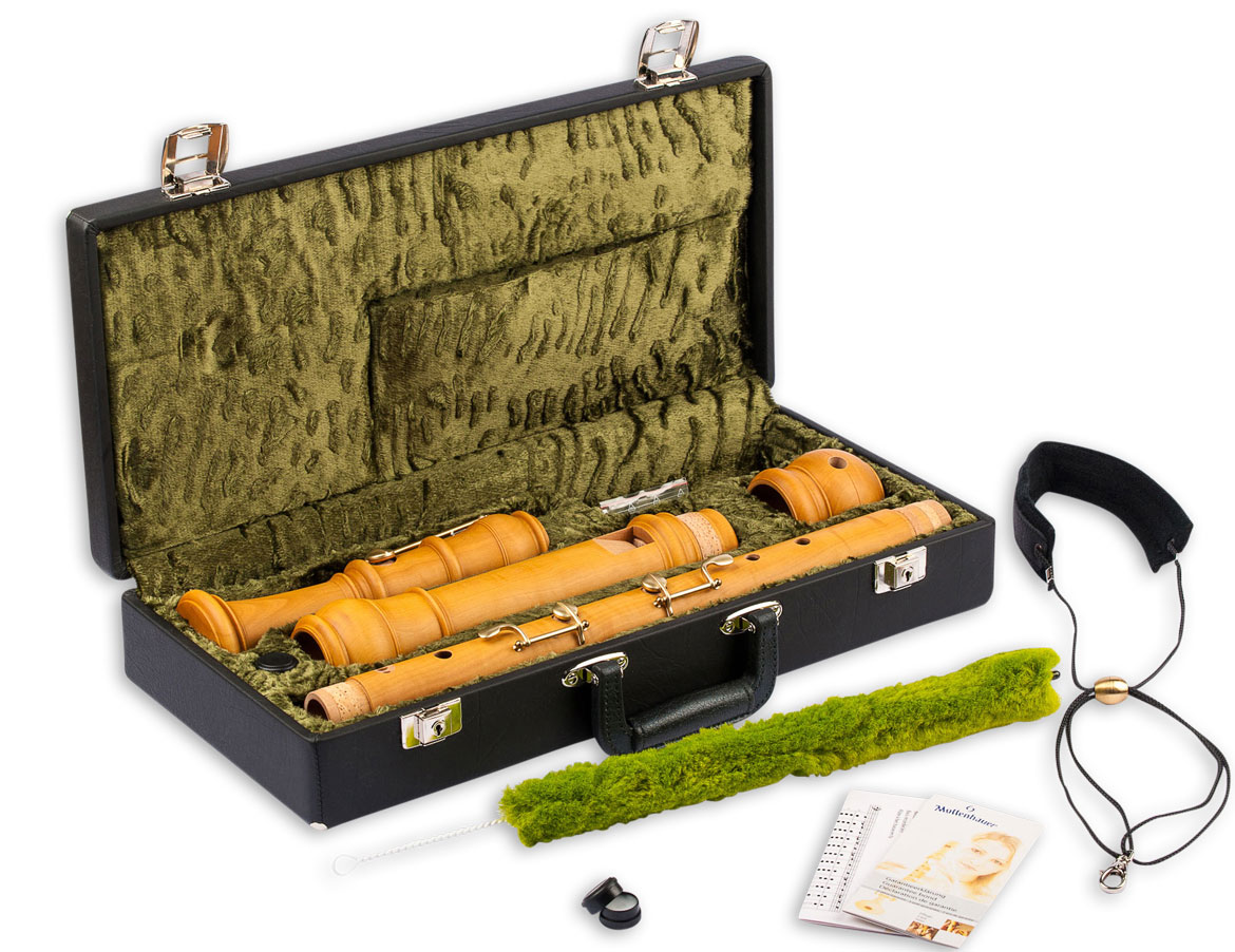 Bass recorder Mollenhauer 5506 Denner baroque with four keys