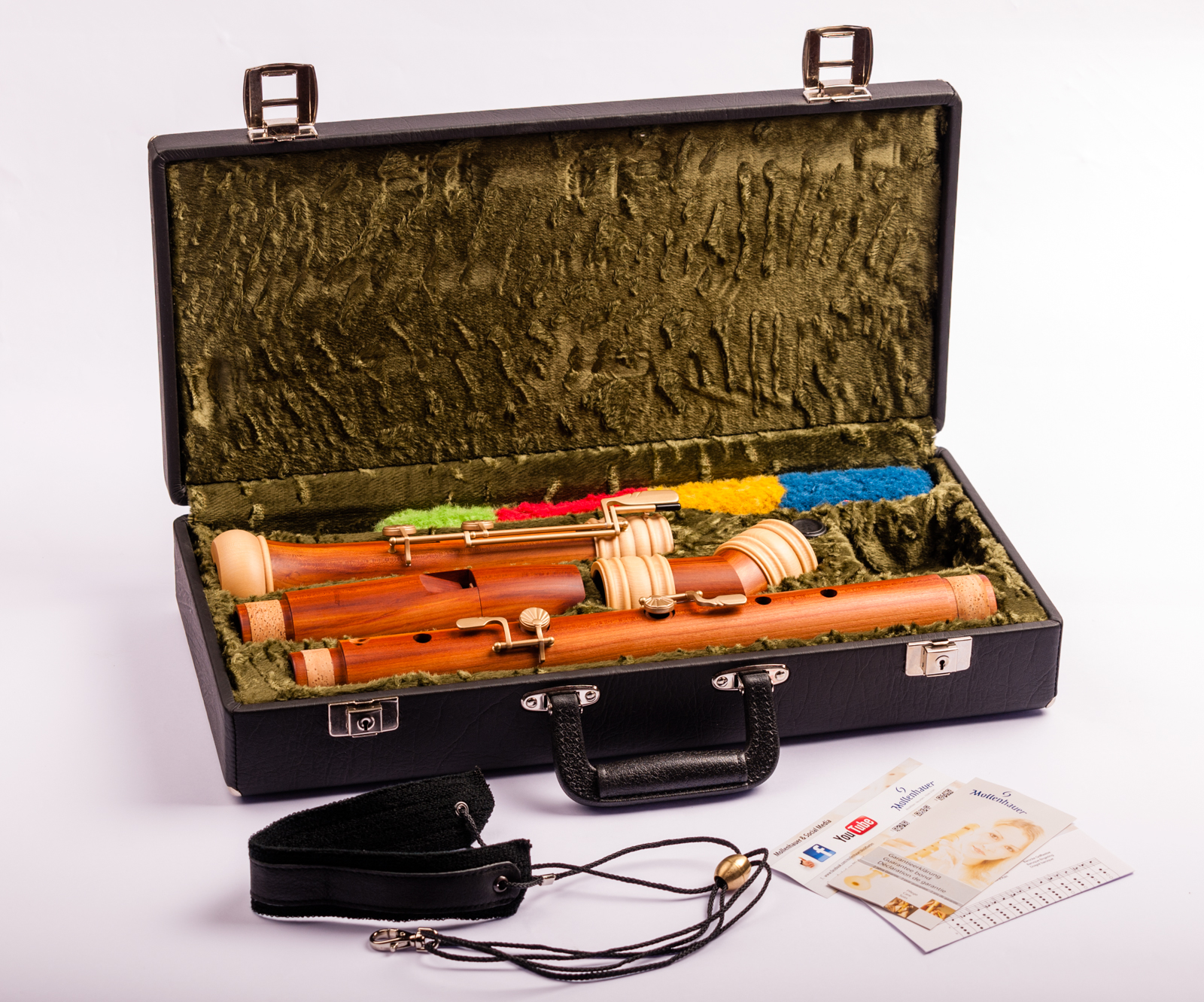 Bass recorder Mollenhauer TE-4528 baroque in plumwood