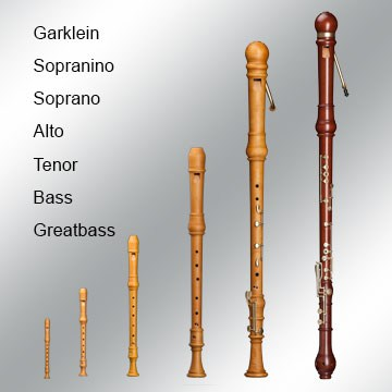 recorders from mollenhauer all different model variations in the