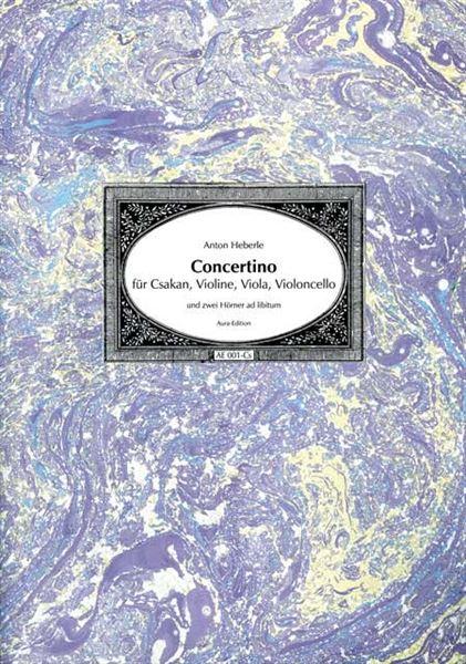 Anton Heberle, Concertino für Csakan & Orchester