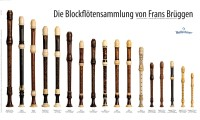 """Poster """"Die Blockflötensammlung von Frans Brüggen"""""""