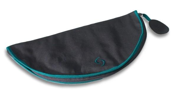 Baumwolltasche, schwarz, für dreiteilige Tenorblockflöte